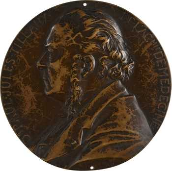 Chaplain (J. C.) : Dr Paul Jules Tillaux, fonte uniface, 1890