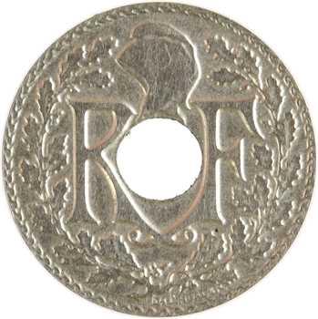 IIIe République, 5 centimes, 1939 Paris, variété flan mince