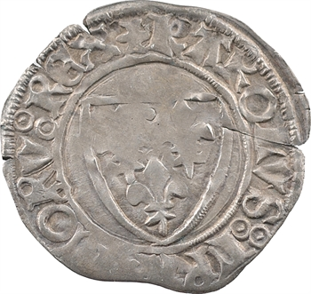 Duc de Bourgogne (au nom de Charles VI), blanc guénar 3e émission, décembre 1418 à mars 1419, Troyes