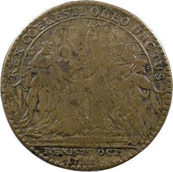 Champagne, Reims, Louis XV, jeton du sacre, 1722 Nuremberg