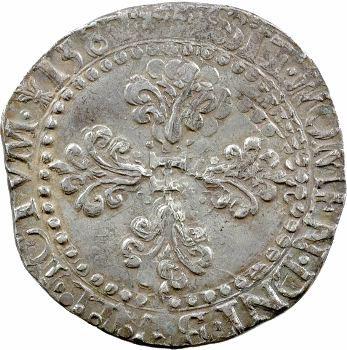 Henri III, demi-franc au col plat, 1587 La Rochelle