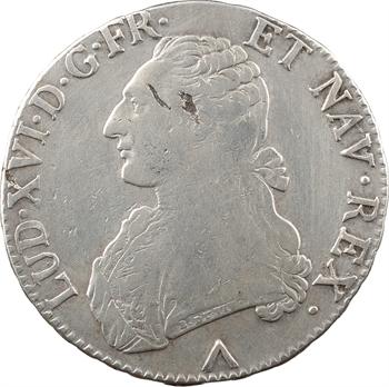 Louis XVI, écu aux branches d'olivier, 1775 Lille