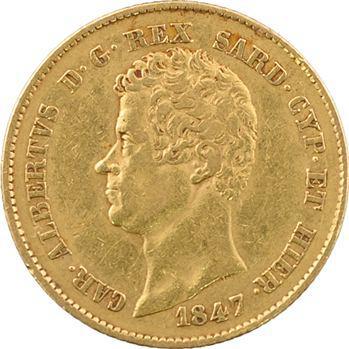 Italie, Savoie-Sardaigne, Charles-Albert, 20 lire, 1847 Turin