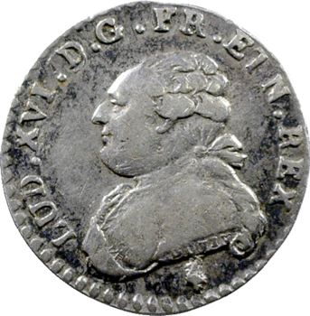 Louis XVI, vingtième d'écu aux rameaux d'olivier, 1783 Paris