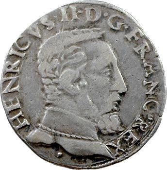 Henri II, Teston à la tête nue 5e type, 1554 Toulouse
