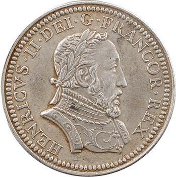 Henri II, jeton uniface, s.d. (refrappe après 1880) Paris