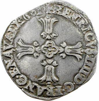 Henri IV, quart d'écu, croix feuillue de face, 1601 Bayonne