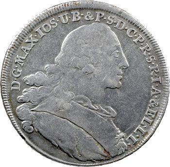 Allemagne, Bavière (royaume de), Maximilien III Joseph, thaler de convention, 1759 Munich
