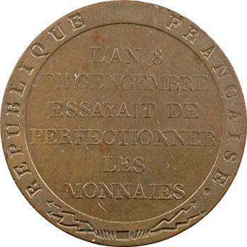 Consulat, essai de Gengembre à l'effigie de Lavoisier, An 8 Paris