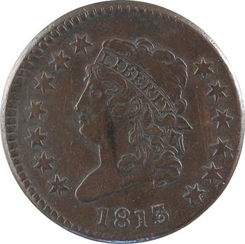 États-Unis, cent Classic Head, 1813 Philadelphie