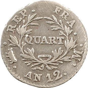 Consulat, quart de franc, An 12 Toulouse
