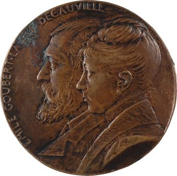 Roty (L.-O.) : Émile Goubert et Laure Decauville, 1887 Paris