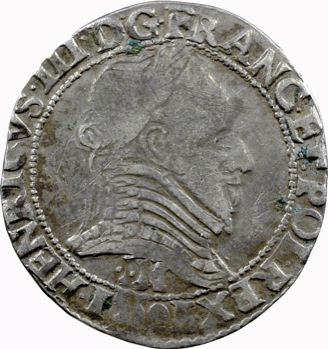 Henri III, demi-franc, 1591 Toulouse