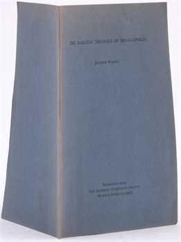 Warren (J.), The earliest triobols of Megalopolis, 1969
