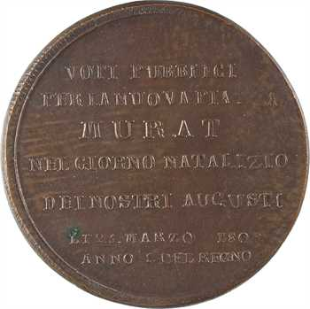 Italie, Joachim Murat, inauguration de la place Murat à Naples, 1809