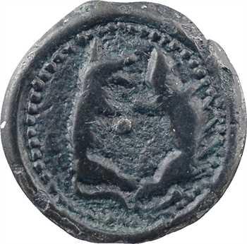Suessions, potin aux animaux affrontés, classe II, c.60-50 av. J.-C
