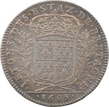 Bretagne (États de), Louis XIV, jeton des États, 1685 Paris