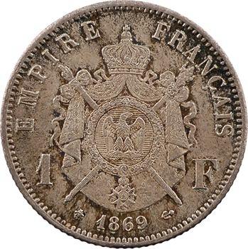 Second Empire, 1 franc tête laurée, 1869 Paris