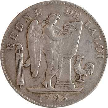 Convention, écu de six livres, 1793 Paris