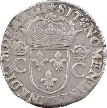 Charles IX, teston 2e type, 1573 Nantes