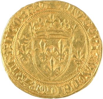 Louis XI, écu d'or à la couronne, 2e émission, La Rochelle