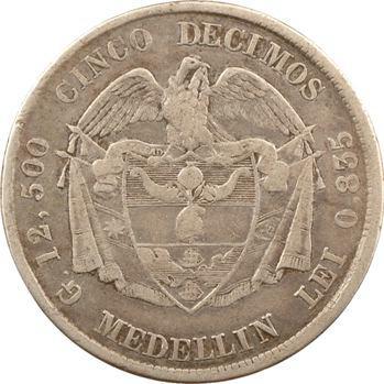 Colombie (États-Unis de), 5 décimes, 1878/4 Medellin