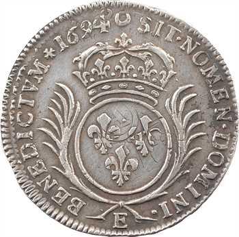 Louis XIV, demi-écu aux palmes, 1694 Tours
