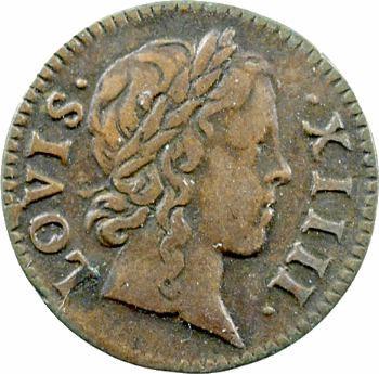 Louis XIV, denier tournois, 1648 Paris