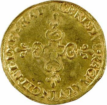 Henri III, écu d'or au soleil 3e type, 1589 Paris