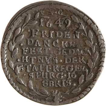 Allemagne, Ratisbonne, module du ducat en argent, 1649