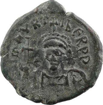 Maurice-Tibère, demi-follis type 2, Constantinople, 1re officine, An VIII = 589-590