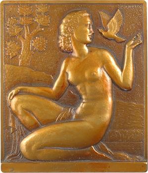 Gibert (L.) : la surprise ou femme à la colombe, s.d. (1942) Paris