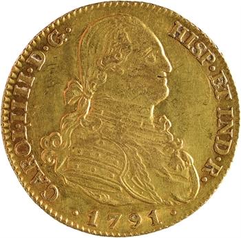 Espagne, Charles IV, 4 escudos, 1791 Madrid