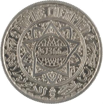 Maroc, Mohammed V, essai de 10 francs, AH 1366 (1947) Paris