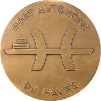 Ve République, inauguration de l'écluse François Ier (port autonome du Havre), 1972