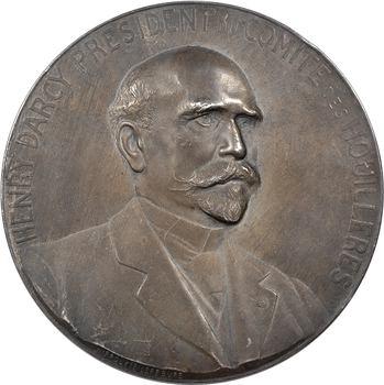 Mines, Henry Darcy, Président du comité des Houillères (25e anniversaire), par Lefèbvre, 1886-1911 Paris