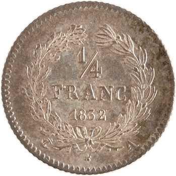 Louis-Philippe Ier, 1/4 franc, 1832/1 Paris