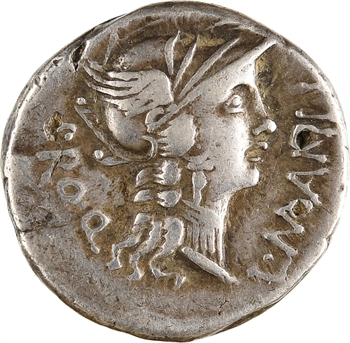 Manlia, denier, Rome, 82 av. J.-C