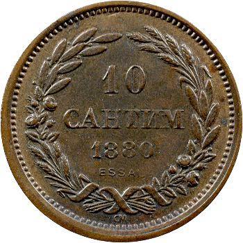 Bulgarie, essai au module de 10 centimes, 1880