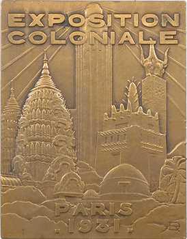 Exposition Coloniale de Paris, le maréchal Lyautey, par Delamarre, 1931 Paris