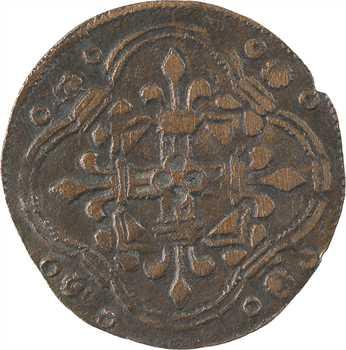 Moyen-Âge, jeton de compte à l'écu de France, s.d