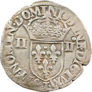 Henri III, quart d'écu croix de face, 1587 Nantes