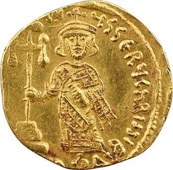 Justinien II, solidus, Constantinople, 2e officine, 687-692