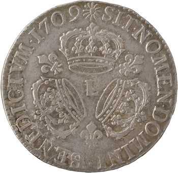 Louis XIV, écu aux trois couronnes, 1709 Bayonne