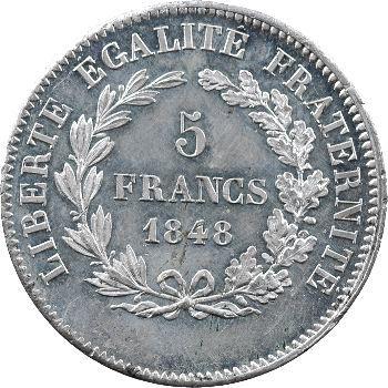 IIe République, concours de 5 francs par Rogat, 1848 Paris