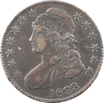 États-Unis, 50 cents ou demi-dollar Capped bust, 1833 Philadelphie