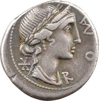 Aemilia, denier, Rome, 114-113 av. J.-C.