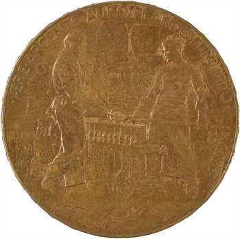 Exposition Universelle 1900, médaille au module de 5 francs, Monnaie de Paris, 1900 Paris