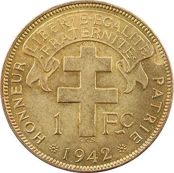 Afrique Équatoriale Française – Libre, 1 franc, 1942 Pretoria