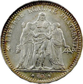 IIIe République, 5 francs Hercule, 1876 Paris